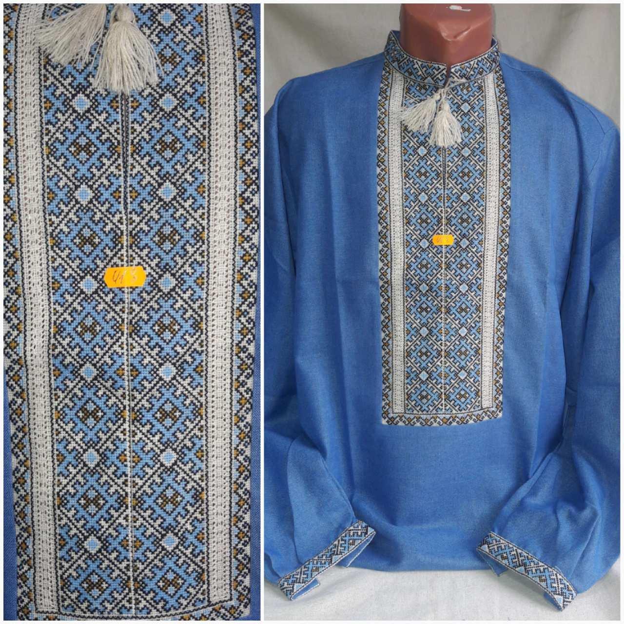 """Стильная вышитая рубаха """"Аристократ"""", ручная работа, домотканка, 46-56 р-ры, 950/850 (цена за 1 шт. + 100 гр.)"""