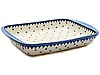 Керамическая форма для выпечки и запекания прямоугольная малая 29,5 х 20,5 с ушками Arctic stars