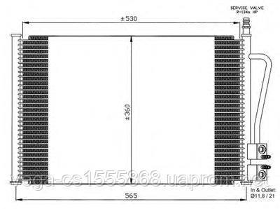 Радиатор кондиционера Van Wezel 18005328 на Ford Fiesta / Форд Фиеста