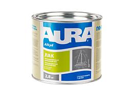 Алкидно-уретановый яхтенный лак Aura – (Полуматовый) 2,5кг