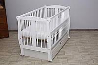 Детская кроватка Грация белая