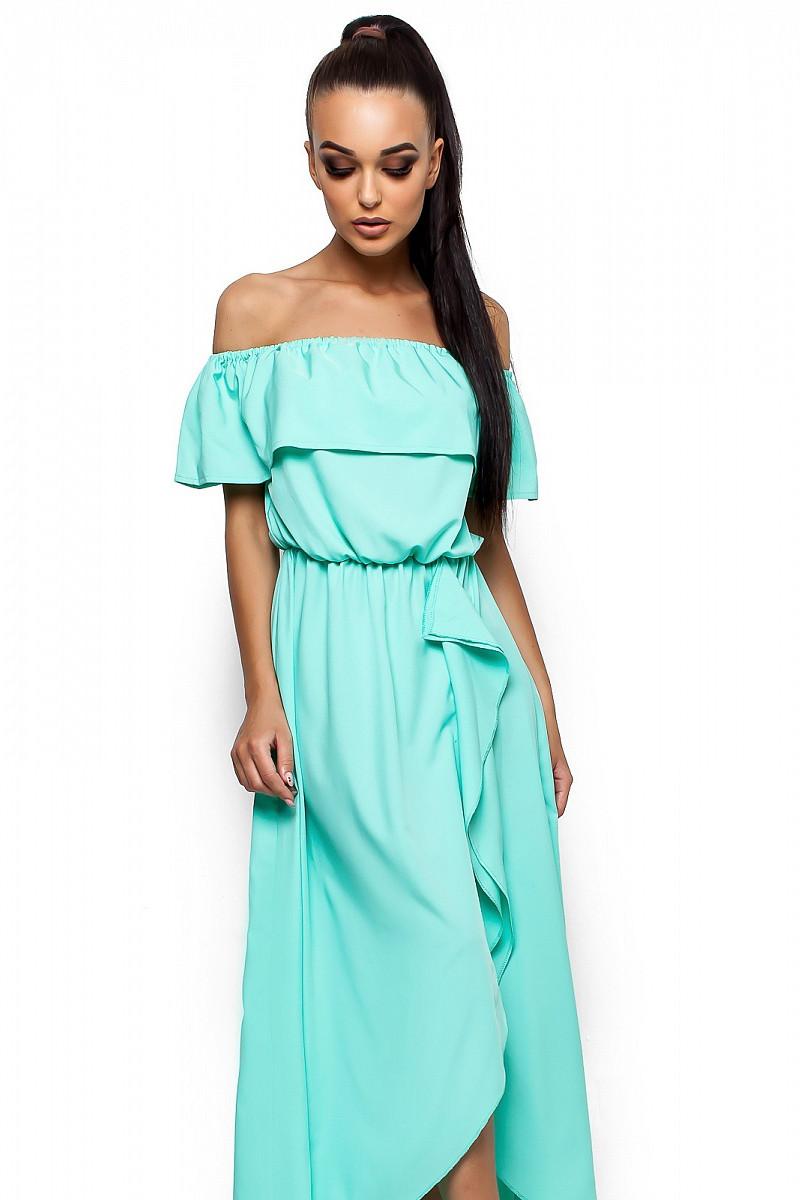 (S-M) Довге літнє бірюзове плаття Astarta