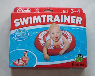 Надувной круг для детей 3 мес -4 года или 6-18 кг SWIMTRAINER Classic, Красный