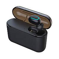 Беспроводной наушник Bluetooth с микрофоном HBQ Q32 Single Черный
