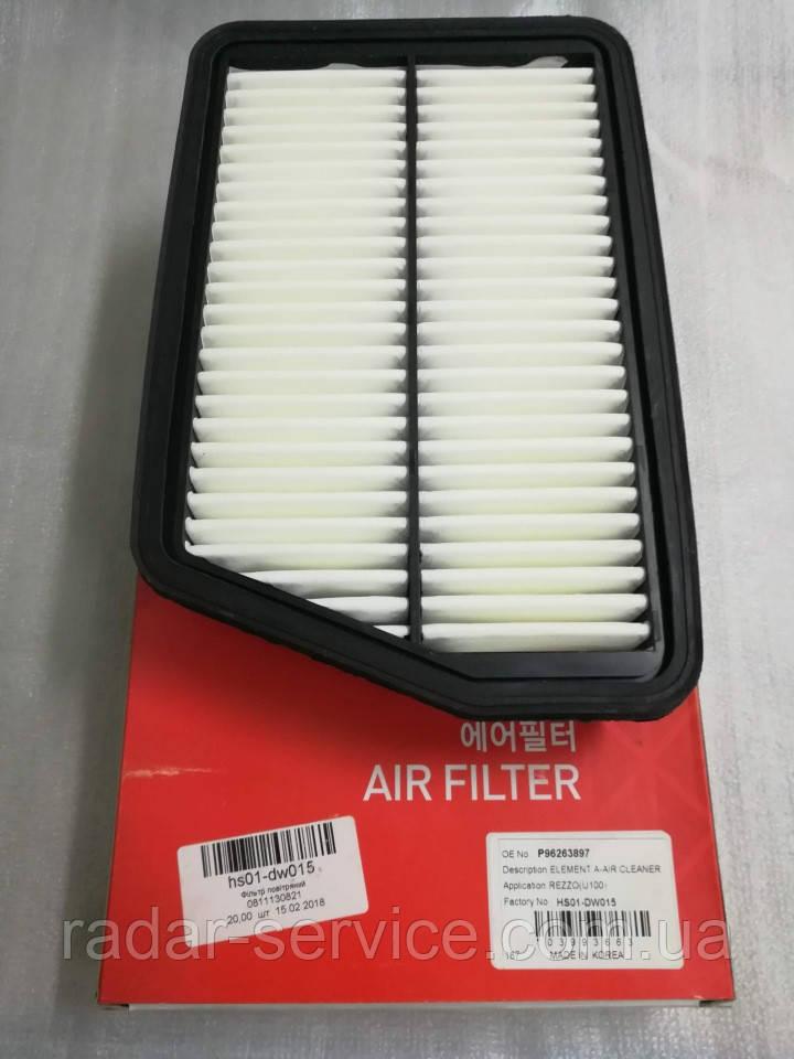 Фильтр воздушный Такума, HS01-DW015, 96263897