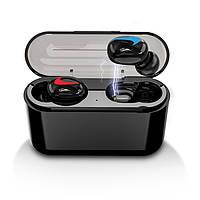 Bluetooth-гарнитура / Беспроводной наушник с микрофоном HBQ Q32 Single Logo Black