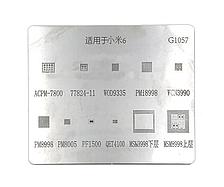 Трафарет BGA Wiley (G1057) ACPM-7800, 77824-11, 9335, Pmi8998, WCN3990, PM8998, PM8005, MSM899