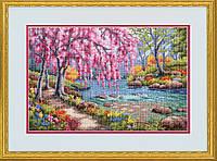 """Набор для вышивания крестом """"Вишня в цвету//Cherry Blossom Creek"""" DIMENSIONS"""