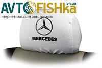 Чохли на підголовники Mercedes-Benz  БІЛІ, фото 1