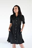 Халат-платье H007, черный, фото 1