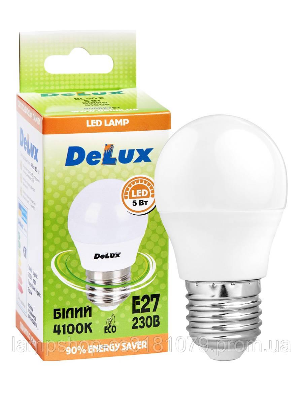 Лампа светодиодная DELUX BL50P 5 Вт 4100K 220В E27 белый
