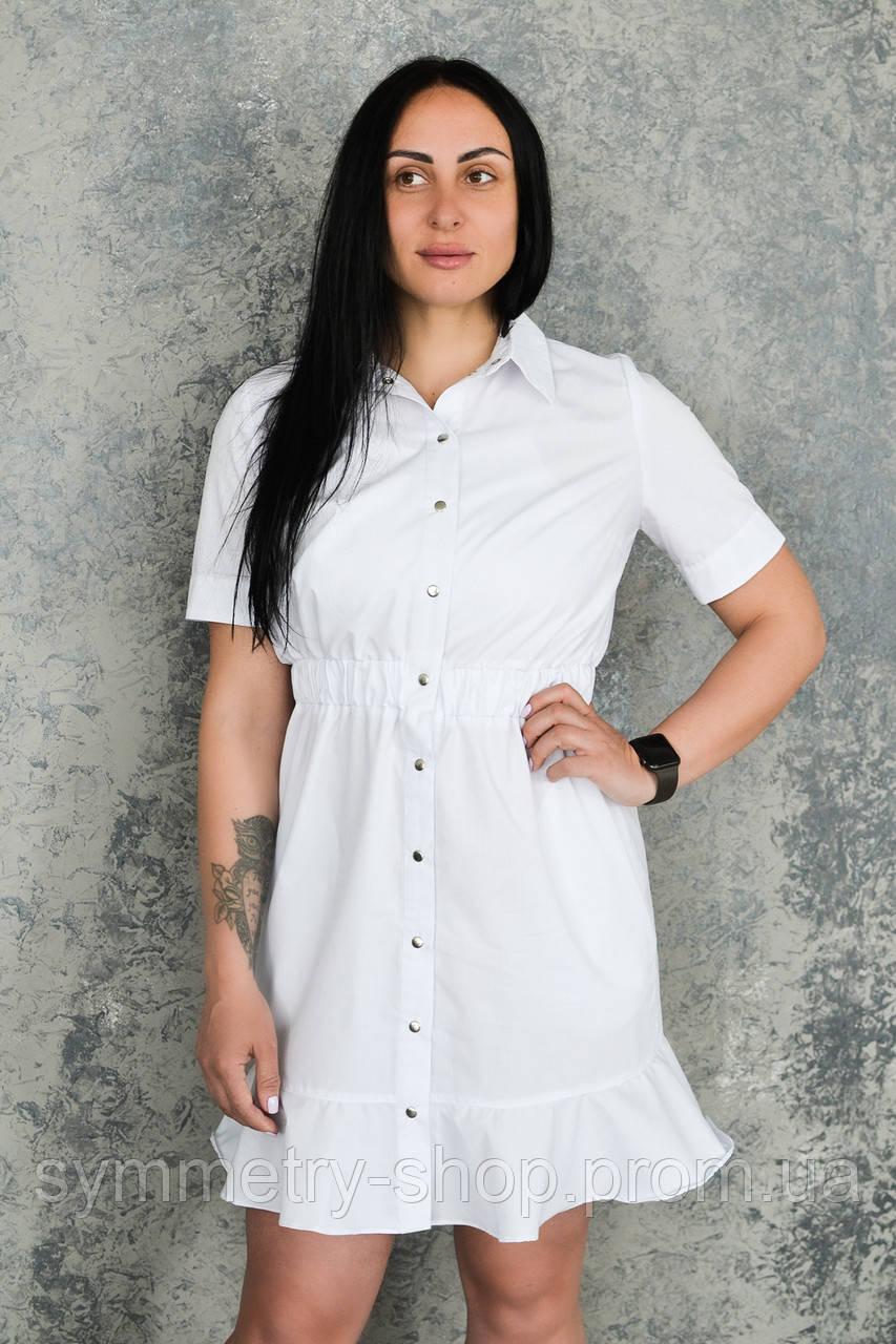 Халат-платье H007, белый