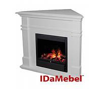 Idamebel Florida (угловой, белый + Dimplex Albany)  электрокамины с 3d пламенем
