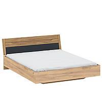 Двоспальне ліжко Z2 160х200 в спальню Fidel Дуб Золотий / Сірий Графіт Blonski