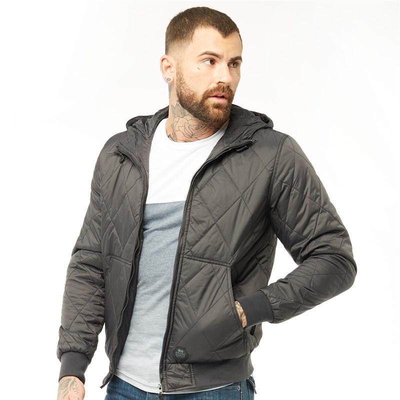 Мужская стеганая куртка Crosshatch Quiltz черная оригинал