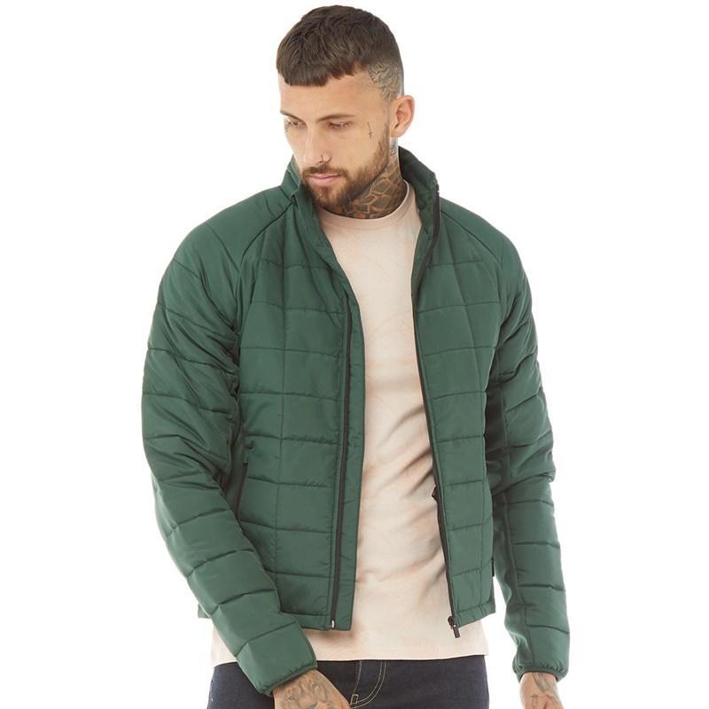 Мужская стеганая куртка DFND London Commander зеленая оригинал