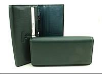 Женский кожаный кошелек Marco Coverna  на магнитах темно-зеленый, фото 1