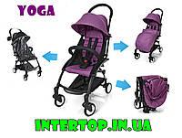 Детская УЛЬТРАКОМПАКТНАЯ  прогулочная коляска Yoga, фиолетовый цвет. Дитяча коляска-книжка Йога