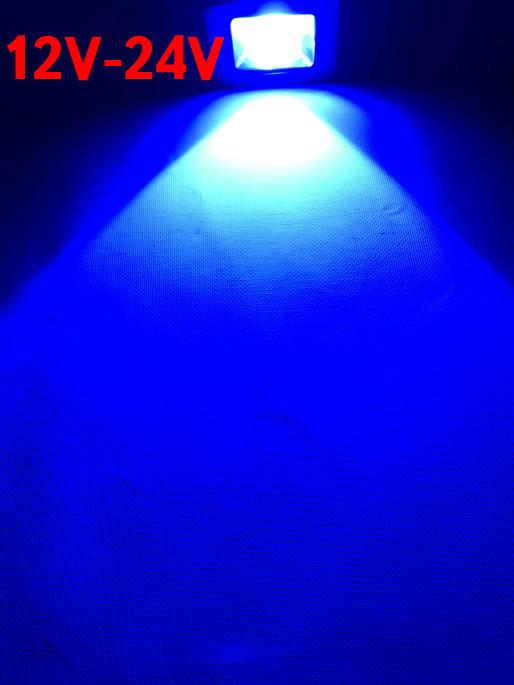 Светодиодный линзованый прожектор SL-IC10Lens 10W 12-24V DC синий IP65 Код.59311