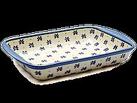 Керамическая форма для выпечки и запекания прямоугольная малая 29,5 х 20,5 с ушками Rustic style, фото 1