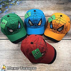 """Кепка """"Человек паук"""" для мальчика (Без красного цвета) (объём 54 см) (2073)"""