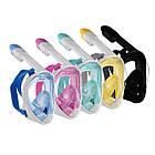Инновационная маска для снорклинга подводного плавания Easybreath розовая, фото 5