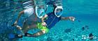 Инновационная маска для снорклинга подводного плавания Easybreath розовая, фото 6