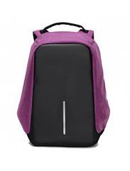 Рюкзак Bobby Протикрадій фіолетовий з USB портом