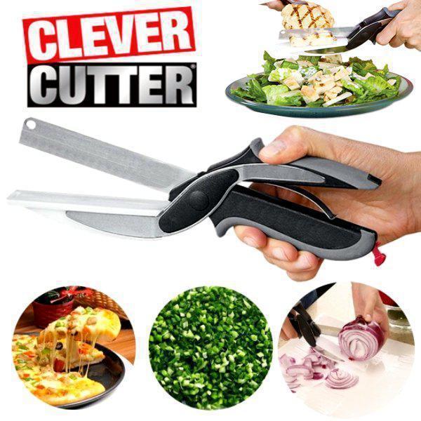 Универсальные кухонные ножницы Clever cutter / нож-ножницы 3 в 1 / умные ножницы