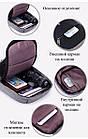 Городской рюкзак антивор Bobby Mini с защитой от карманников и USB-портом для зарядки(серый), фото 4