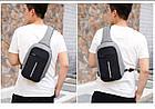 Городской рюкзак антивор Bobby Mini с защитой от карманников и USB-портом для зарядки(серый), фото 6