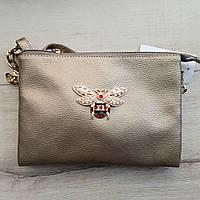 Клатч сумка на 2 змейки с мухой 23,5 *16, фото 1