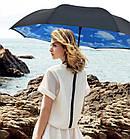 Ветрозащитный зонт Up-Brella антизонт Зонт обратного сложения (Облака), фото 2