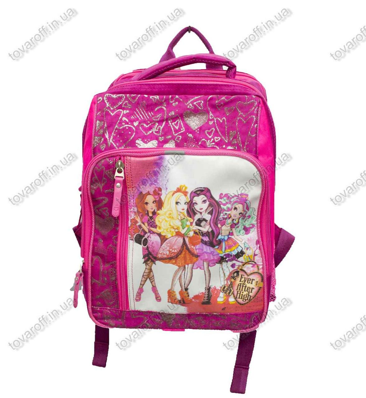 Рюкзак школьный детский Монстер Хай (Monster High) - Розовый - MeShock (Bagland) - 11270