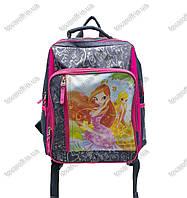 Оптом рюкзак школьный детский Винкс (Winx) - Серо-розовый - MeShock (Bagland) - 11270, фото 1