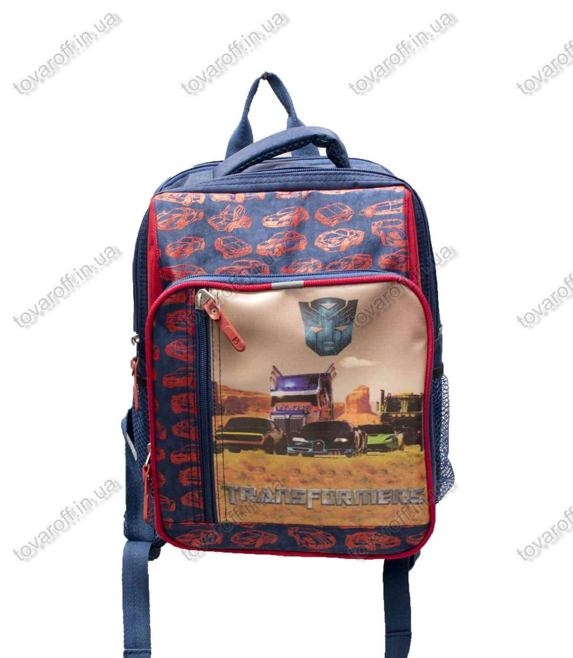Рюкзак школьный детский Трасформеры (Transformers) - Синий - MeShock (Bagland) - 11270