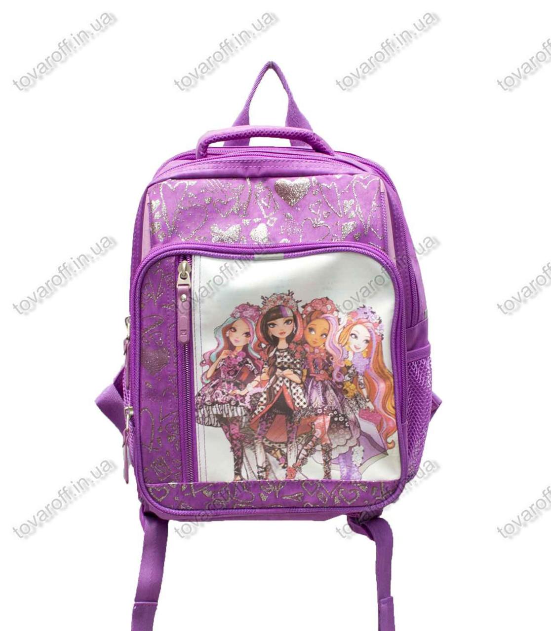 Оптом рюкзак школьный детский Монстер Хай (Monster High) - Фиолетовый - MeShock (Bagland) - 11270