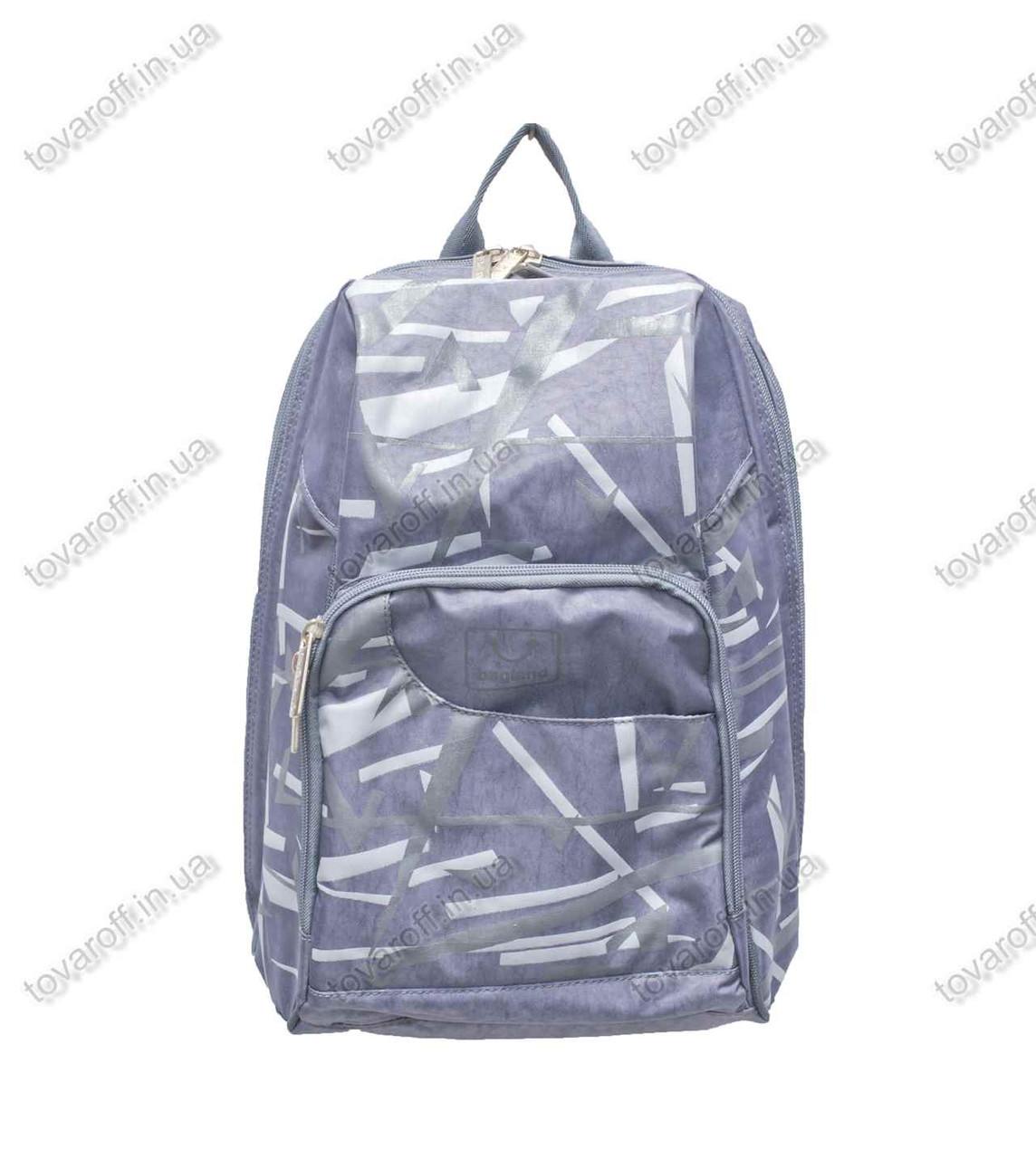 Оптом рюкзак школьный/городской - Серый - MeShock (Bagland) - 14970