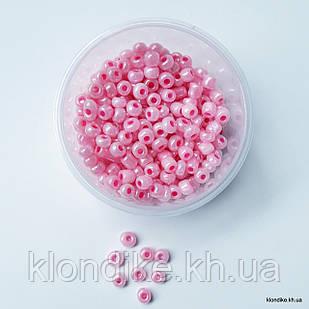 Бисер Крупный (6/0), Некалиброванный, Цвет: Розовый жемчужный (50 грамм)