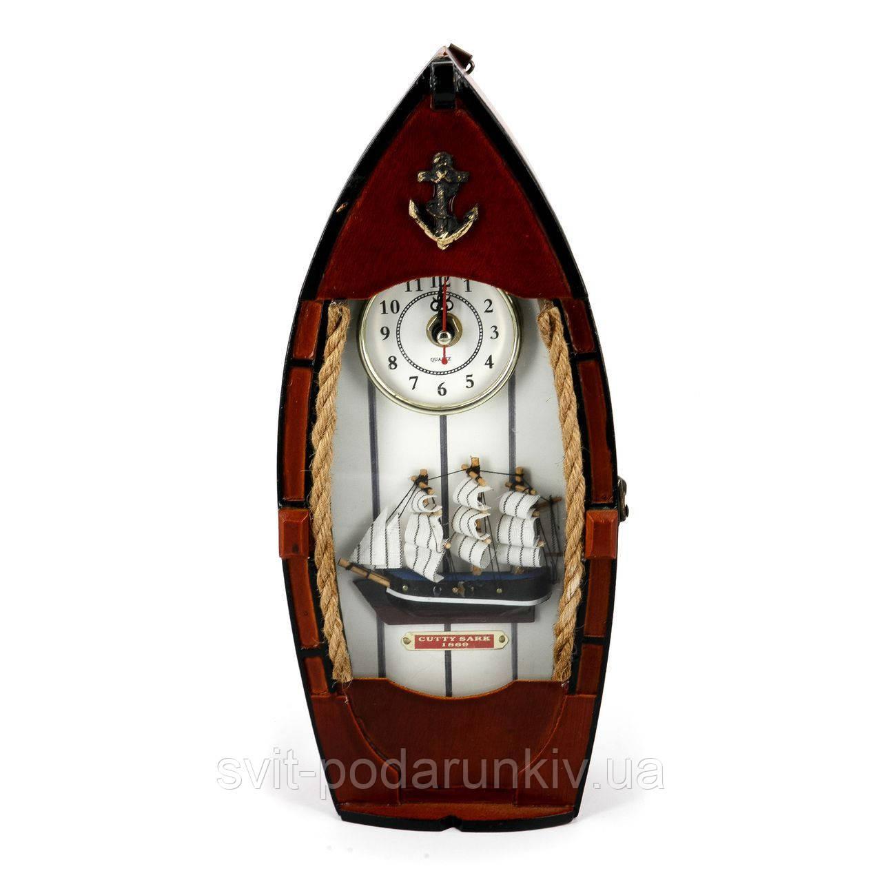 Ключница настенная Часы Лодка
