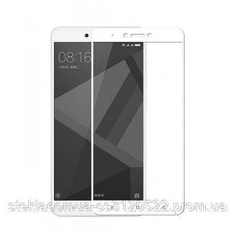 Защитное стекло 5D Xiaomi Redmi Note 4X White (Белая рамка)