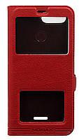 Чехол-книжка Momax для Xiaomi Redmi 6A с двумя окнами Red