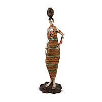 Африканская фигурка девушки в национальном наряде с амфорой четыре варианта S7177