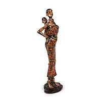 Статуэтка африканской женщины с маленьким ребёнком за спиной S7619