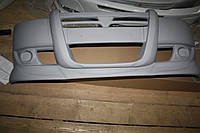 Накладка на передний бампер (полная, под покраску) Fiat Doblo III nuovo (2010+)