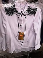 Блузка школьная для девочки с бантом оптом