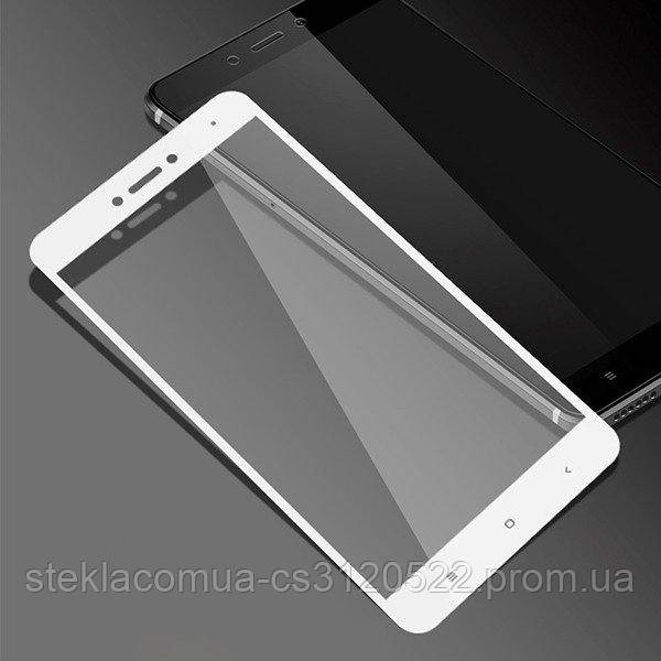 Защитное стекло 5D Xiaomi Redmi Note 4 White (Белая рамка)