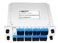 Делитель оптический корпусной (DIN) сплитер (Splitter PLC) 1x16 SC/UPC ValCord