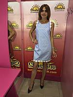 Женское платье в полоску с лена TM Bisou 7679, фото 1