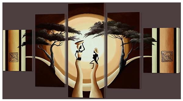 Модульная картина Interno Искусственный холст Девушки и рассвет 108х60см (Z908S)